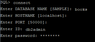 db2 CLP tool connect